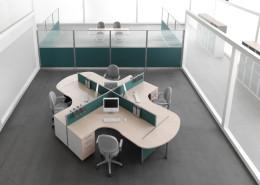 Scrivanie ufficio operative Gam Arredi Diogene 07