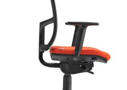 Sedia ufficio arancione Puccini 05