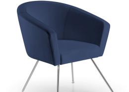Sedia ufficio blu Londra 06