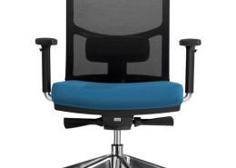 Sedia ufficio blu nera Puccini 03