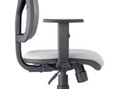 sedia ufficio profilo grigio