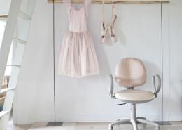 Sedia ufficio rosa bianca Vivaldi 05