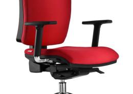 Sedia ufficio rossa Rossini 03