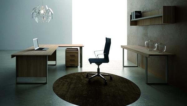 Scrivanie moderne sedia e tappeto