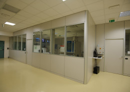 Pareti ufficio operativo controsoffitto pavimento Datalogic Bologna A06