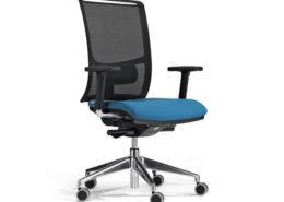 Sedia ufficio blu nera Puccini 01