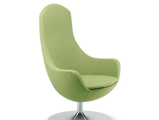 Sedia ufficio verde Parigi 05