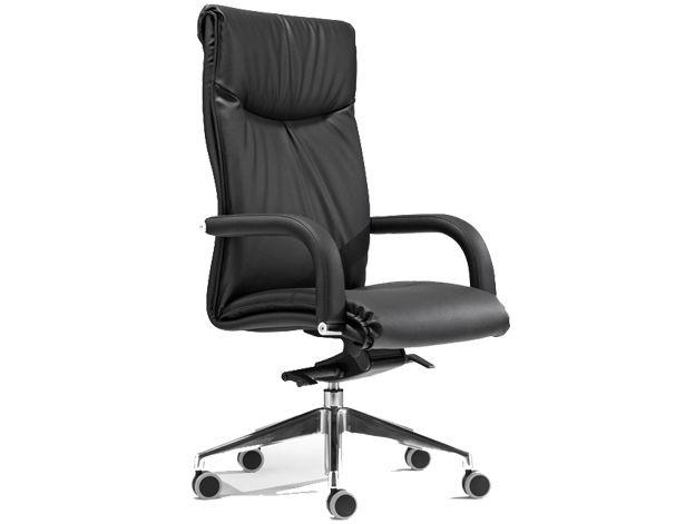 sedia ufficio direzionali in pelle nera