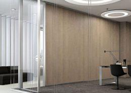 pareti divisorie in cristallo per ufficio
