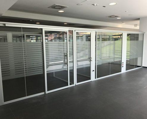 Pareti divisorie solution open glass esempio n4