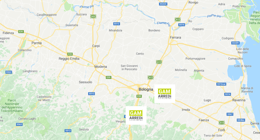 Mappa Bologna Modena Reggio Emilia