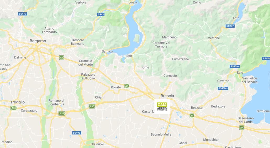 Mappa Brescia Bergamo