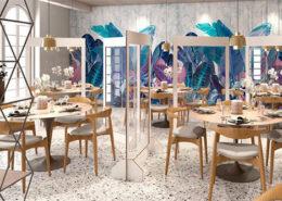 separatori trasparenti in plexiglass bar ristoranti